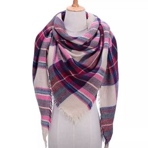 Accessories - NEW Fringe Blanket Scarf Shawl in MultiColor Plaid